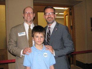 2013, Jake with Representative Davnie and Senator Dibble, co-authors of the Safe Schools bill