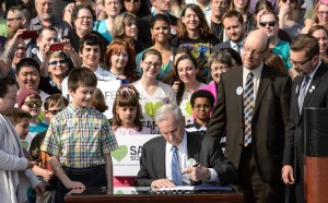 Jake at Safe Schools bill signing in ceremony, April 9, 2014